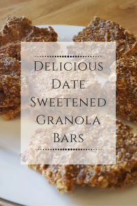 Delicious Date Sweetened Granola Bars Recipe
