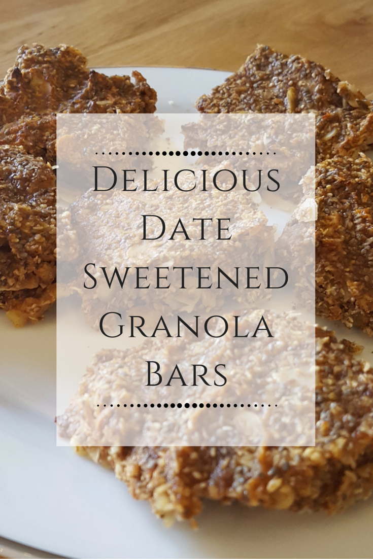 Delicious Date Sweetened Granola Bars