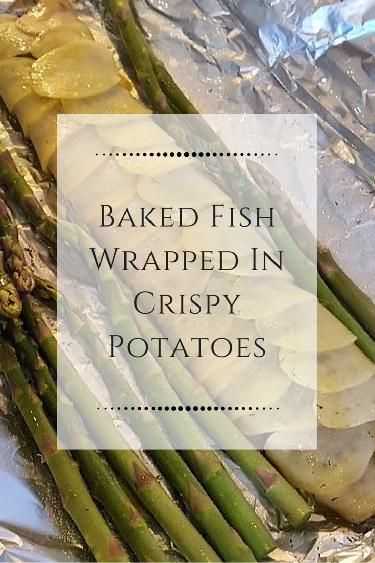 Baked Potato Wrapped Fish Recipe