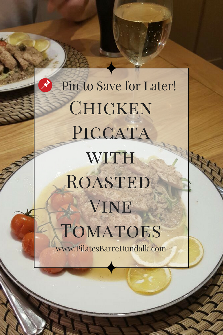 Walnut Crusted Chicken Piccata with Vine Tomatoes